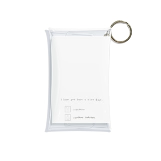 rilybiiのライトグレー*ロゴ  Mini Clear Multipurpose Case