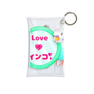 Lily bird(о´∀`о)の鏡大好きピーコちゃん ロゴ入り② Mini Clear Multipurpose Case