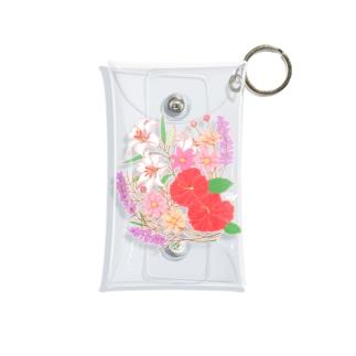 七月のお花盛り沢山 Mini Clear Multipurpose Case