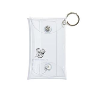 ひょっこりパグさん(あお)ミニマルチケース/チャリティー Mini Clear Multipurpose Case