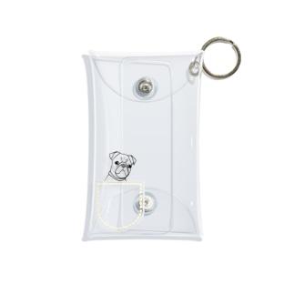 ひょっこりパグさん(きいろ)ミニマルチケース/チャリティー Mini Clear Multipurpose Case