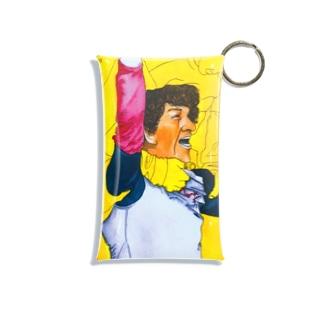 サッカー喜色イラスト 歓喜の水彩画 Mini Clear Multipurpose Case