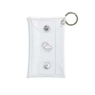 空模様の空模様ロゴ Mini Clear Multipurpose Case