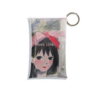 Brainwashed wow wowのchord pink Mini Clear Multipurpose Case
