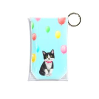 Atelier Heureuxの~Dream~ハチワレ子猫ちゃんと風船 Mini Clear Multipurpose Case