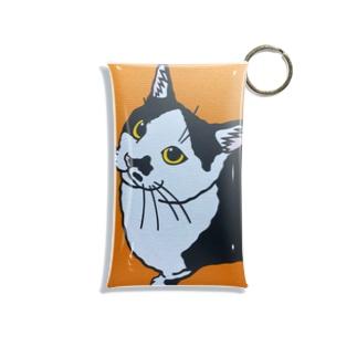 ハチワレ猫 ミニクリアマルチケース Mini Clear Multipurpose Case