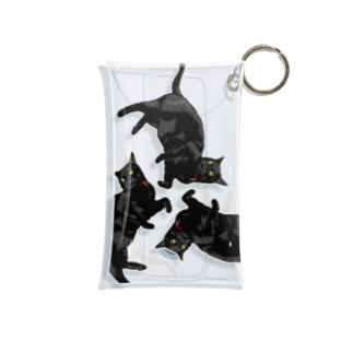 黒猫トライアングル Mini Clear Multipurpose Case