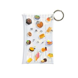 世界のグルメ Mini Clear Multipurpose Case