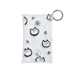 猫ネコneko Mini Clear Multipurpose Case
