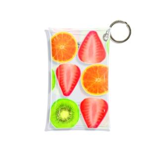 キウイとオレンジといちご Mini Clear Multipurpose Case