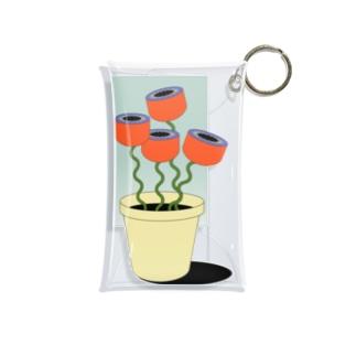 窓辺のお花 Mini Clear Multipurpose Case