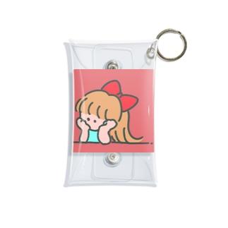 下向く少女 Mini Clear Multipurpose Case