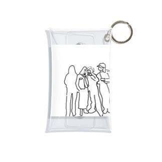 陰キャと陽キャ Mini Clear Multipurpose Case