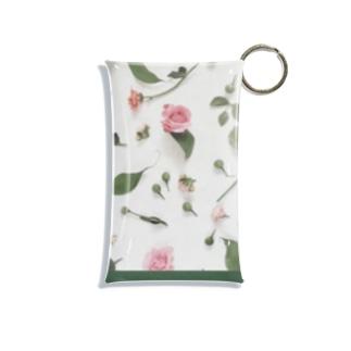 pink rose Mini Clear Multipurpose Case