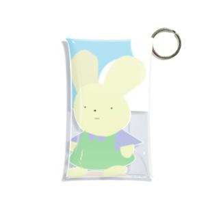 情報電波局の無表情なウサギちゃん Mini Clear Multipurpose Case