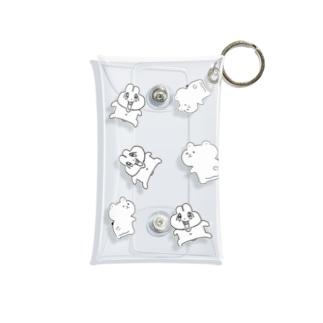 前歯🐰とプリケツ🧸(白バージョン) Mini Clear Multipurpose Case