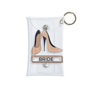 ペア(BRIDE)ヒール_ベージュ Mini Clear Multipurpose Case