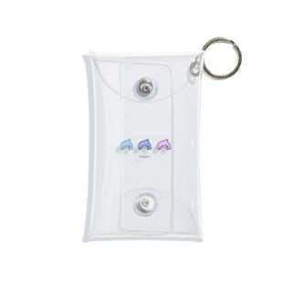 3 dolphin Mini Clear Multipurpose Case