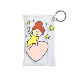 pocaのお絵描きのハートのお届け♡ Mini Clear Multipurpose Case