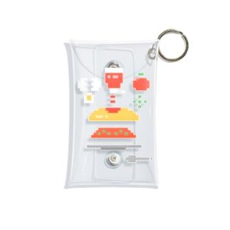 ドットのオムライス Mini Clear Multipurpose Case