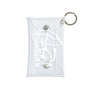 Have fun on a Rainy day(white 文字なし) Mini Clear Multipurpose Case