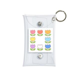 色々雑貨屋さんのお花 Mini Clear Multipurpose Case