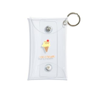 _mojuu-3のice cream Mini Clear Multipurpose Case