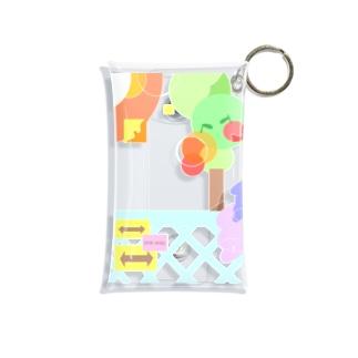カラフル風景 Mini Clear Multipurpose Case
