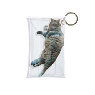 San_lotus(タイヨウとハス)のぐうたらお猫様 Mini Clear Multipurpose Case