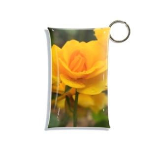 雨の日の薔薇(yellow) Mini Clear Multipurpose Case