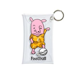 ピンクの犬〜football Mini Clear Multipurpose Case