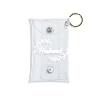 ペア(Husband)リーフ_白 Mini Clear Multipurpose Case