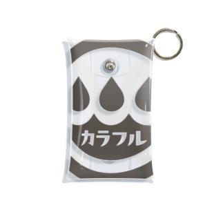 コインランドリー屋のカラフルくん Mini Clear Multipurpose Case