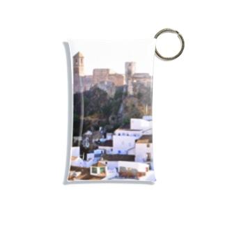スペイン:丘の上の村カサレスの遠望 Spain: Casares  (Cásares) Mini Clear Multipurpose Case