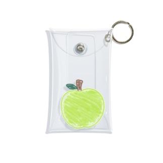クレヨンで青リンゴ Mini Clear Multipurpose Case