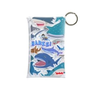 サメとダイバー Mini Clear Multipurpose Case