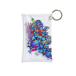 赤花のギョギョ Mini Clear Multipurpose Case