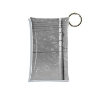 水色洞の電柱 Mini Clear Multipurpose Case
