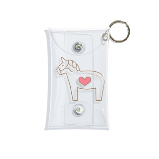 馬が大好き! Mini Clear Multipurpose Case