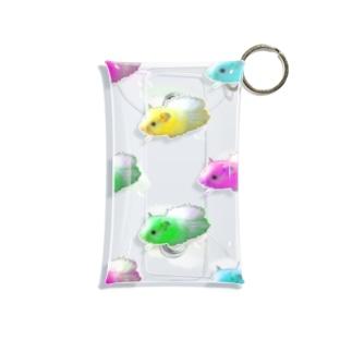 うちのハムスター/カラフル Mini Clear Multipurpose Case