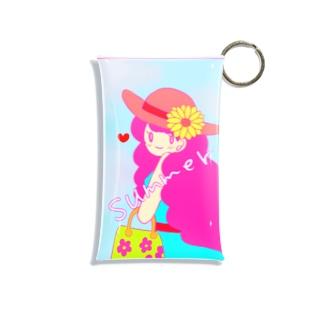 夏の女の子 Mini Clear Multipurpose Case