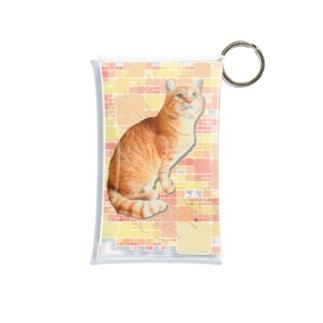 茶トラにゃんこ Gingercat 文字入り Mini Clear Multipurpose Case
