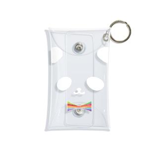 カラフル蝶ネクタイ パンダ(白目) Mini Clear Multipurpose Case