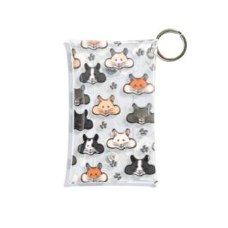 顔面ハムちゃん Mini Clear Multipurpose Case