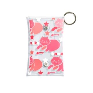 neko kawaii サクラピンク Mini Clear Multipurpose Case