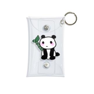 パンダのホワイト Mini Clear Multipurpose Case