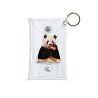 スイカとパンダ Mini Clear Multipurpose Case