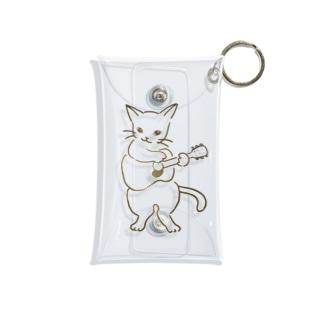 ギター弾く猫 1 Mini Clear Multipurpose Case