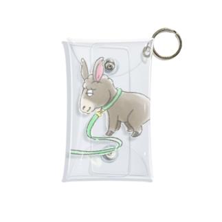 ロバ犬 Mini Clear Multipurpose Case