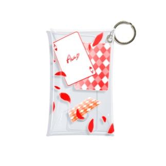 トランプ柄 ver.ハート(1) Mini Clear Multipurpose Case